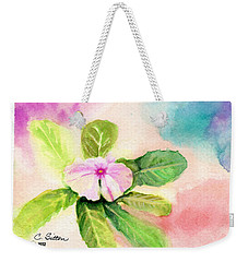 Weekender Tote Bag featuring the painting Periwinkle by C Sitton