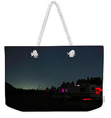 Perseid Meteor-julian Night Lights Weekender Tote Bag
