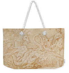 Perseus Rescuing Andromeda Red Chalk On Paper Weekender Tote Bag