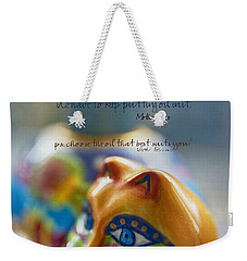 Weekender Tote Bag featuring the photograph Perseverance by Vicki Ferrari