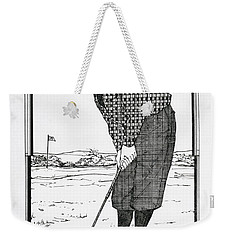 Weekender Tote Bag featuring the drawing Persistance by Ira Shander