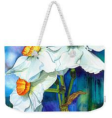 Petal Portrait Weekender Tote Bag by Barbara Jewell