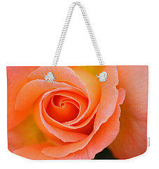 Weekender Tote Bag featuring the photograph Petals Of Peach by Rowana Ray