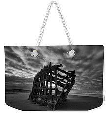 Peter Iredale Shipwreck Black And White Weekender Tote Bag