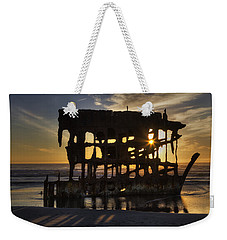 Peter Iredale Shipwreck Sunset Weekender Tote Bag