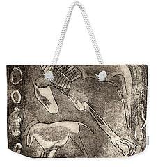 Petroglyph - Horse Takhi And Stones - Prehistoric Art - Cave Art - Rock Art - Cave Painters Weekender Tote Bag