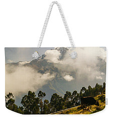 Peru Mountains With Cow Weekender Tote Bag