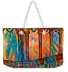 Phantom Fires Weekender Tote Bag by Ally  White