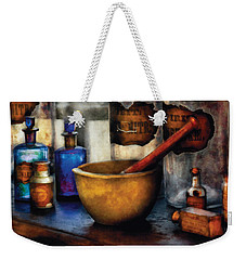 Pharmacist - Mortar And Pestle Weekender Tote Bag by Mike Savad
