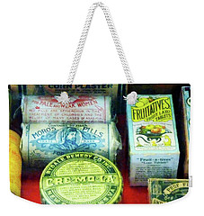 Weekender Tote Bag featuring the photograph Pharmacy - For Aches And Pains by Susan Savad