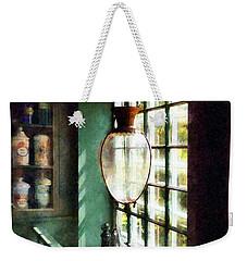 Pharmacy - Glass Mortar And Pestle On Windowsill Weekender Tote Bag