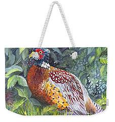 Pheasant In The  Grass Weekender Tote Bag