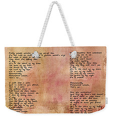 Phenomenal Woman - Red Rustic Weekender Tote Bag