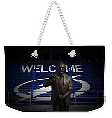 Weekender Tote Bag featuring the photograph Phil Esposito Says II by Ben Shields