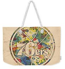 Philadelphia 76ers Retro Poster Weekender Tote Bag