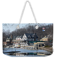 Philadelphia - Boat House Row Weekender Tote Bag by Cindy Manero