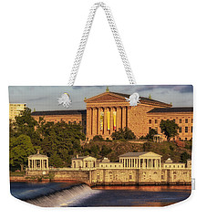 Philadelphia Museum Of Art Weekender Tote Bag by Susan Candelario