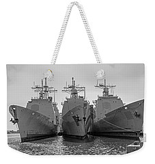 Philadelphia Navy Yard B - W  Weekender Tote Bag by Susan  McMenamin
