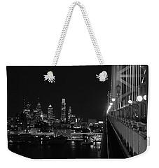 Philadelphia Night B/w Weekender Tote Bag by Jennifer Ancker