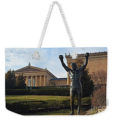 Philadelphia - Rocky  Weekender Tote Bag by Cindy Manero