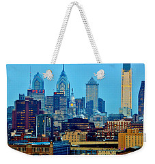 Philadelphia Skyline Weekender Tote Bag by Benjamin Yeager