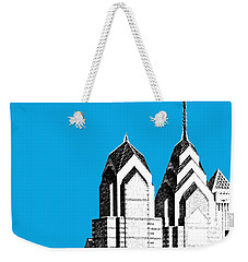 Philadelphia Skyline Liberty Place 1 - Ice Blue Weekender Tote Bag
