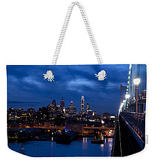 Philadelphia Twilight Weekender Tote Bag by Jennifer Ancker