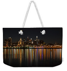 Philly Night Weekender Tote Bag by Jennifer Ancker