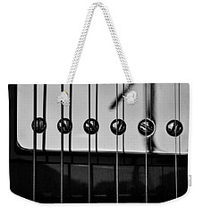 Phone Pole Reflection Weekender Tote Bag by Chris Berry