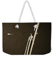 Bassoon Music Instrument Fine Art Prints Canvas Prints Greeting Cards In Sepia 3408.01 Weekender Tote Bag