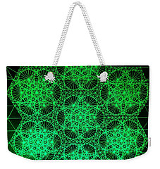 Weekender Tote Bag featuring the drawing Photon Interference Fractal by Jason Padgett