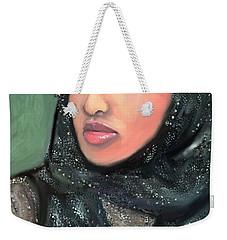 Weekender Tote Bag featuring the digital art Phyllis Hyman by Vannetta Ferguson