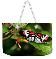 Piano Key Butterfly On Fire Bush Weekender Tote Bag