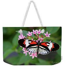 Piano Key Butterfly On Pink Penta Weekender Tote Bag