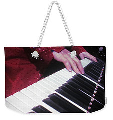 Piano Man At Work Weekender Tote Bag by Aaron Martens