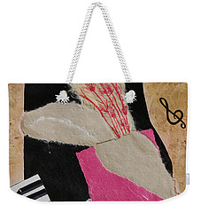 Weekender Tote Bag featuring the painting Piano Still Life by Mini Arora