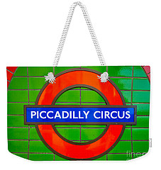 Weekender Tote Bag featuring the photograph Piccadilly Circus Tube Station by Luciano Mortula