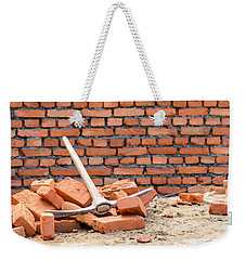 Pickaxe On A Construction Site Weekender Tote Bag