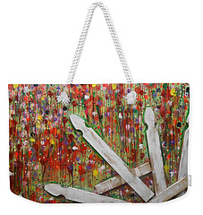 Picket Fence Flower Garden Weekender Tote Bag