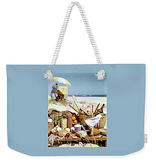 Picnic Display On The Beach Weekender Tote Bag