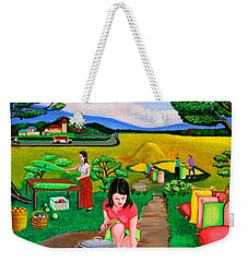 Picnic With The Farmers Weekender Tote Bag by Cyril Maza
