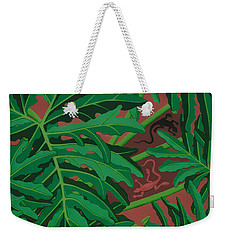 pictures of philodendrons - Lizard Leaves Weekender Tote Bag