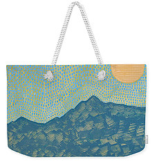 Picuris Mountains Original Painting Weekender Tote Bag
