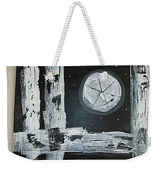 Weekender Tote Bag featuring the painting Pie In The Sky by Sharyn Winters