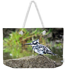 Pied Kingfisher Weekender Tote Bag