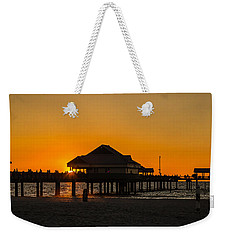Pier 60 Sunset Weekender Tote Bag by Jane Luxton