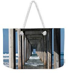 Pier Geometry Weekender Tote Bag
