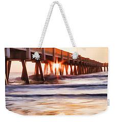 Pier Sunrise Too Weekender Tote Bag