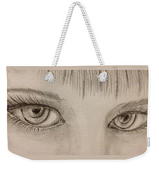 Piercing Eyes Weekender Tote Bag by Bozena Zajaczkowska