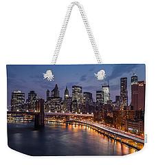 Piercing Manhattan Weekender Tote Bag by Mihai Andritoiu